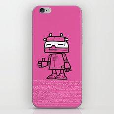 Ze Robot, Pink :) iPhone & iPod Skin