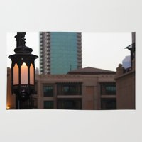arab Area & Throw Rugs featuring Dubai - Lamp outside Burj Al Arab by gdesai