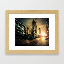 Barbican sunrise Framed Art Print