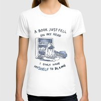 pun T-shirts featuring Book Pun by Velocesmells
