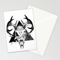 Deer Skull Stationery Cards