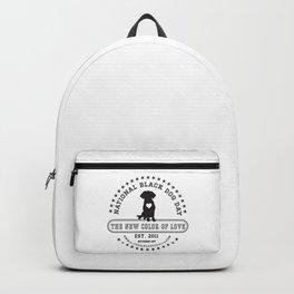 Black Dog Day Official Logo Backpack