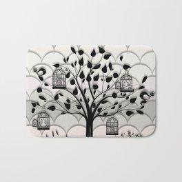 Paper landscape B&W Bath Mat