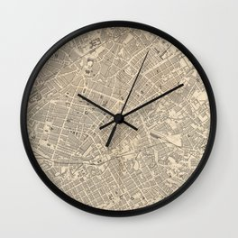 Vintage Map of Manchester England (1851) Wall Clock