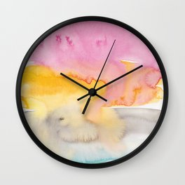 17   | Abstract Minimal Watercolor Painting | 191222 Wall Clock