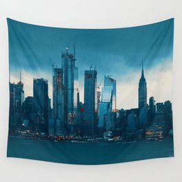 New York City Cityscape (Color) Wall Tapestry