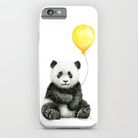 Panda Watercolor Animal with Yellow Balloon Nursery Baby Animals iPhone 6s Slim Case
