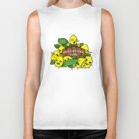 lemongrab Biker Tanks featuring Lemongrab's Acceptable Lemonade  by BlacksSideshow