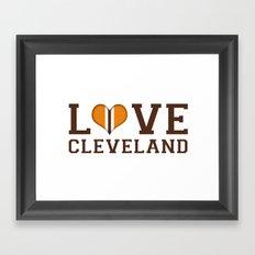 LUV Cleveland Framed Art Print