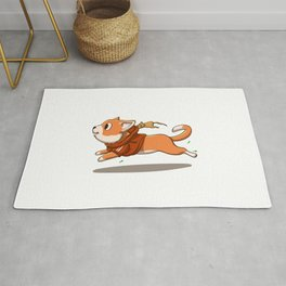 Cat run - mouse cartoon Rug