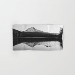 Wild Mountain Sunrise - Black and White Nature Photography Hand & Bath Towel