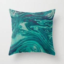 Green Purple Throw Pillow