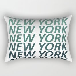New York Green Haze Rectangular Pillow