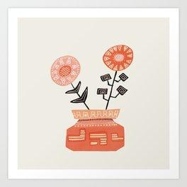 Floral vibes V Art Print