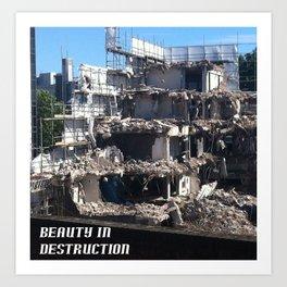 Beauty in Destruction Art Print