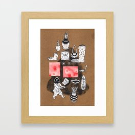 Imaginary Showcase Framed Art Print