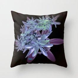 Blue Beauty Throw Pillow