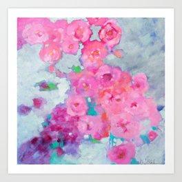Rose Cascade Art Print
