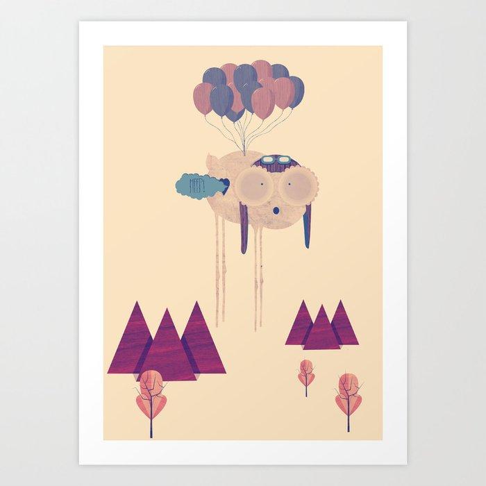 Meep! Art Print