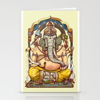 ganesha Stationery Cards featuring Ganesha by Pirates of Brooklyn