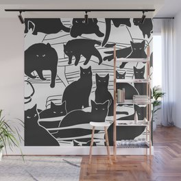 Black cats Wall Mural