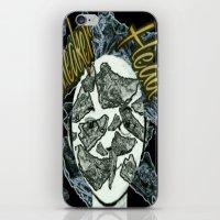 sneaker iPhone & iPod Skins featuring Sneaker Head by lilbudscorner