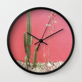A cactus and a rose Wall Clock