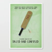 dazed and confused Canvas Prints featuring Dazed and Confused - Minimalist Poster by cashton