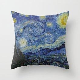 Van Gogh, Starry Night Throw Pillow