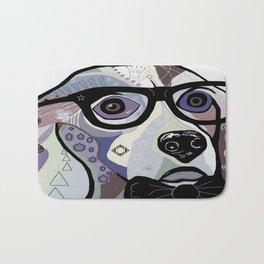 Sophisticated Beagle in Denim Colors Bath Mat