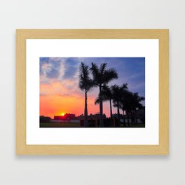 Peruvian Sunset Framed Art Print