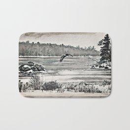 Winter Eagles Bath Mat