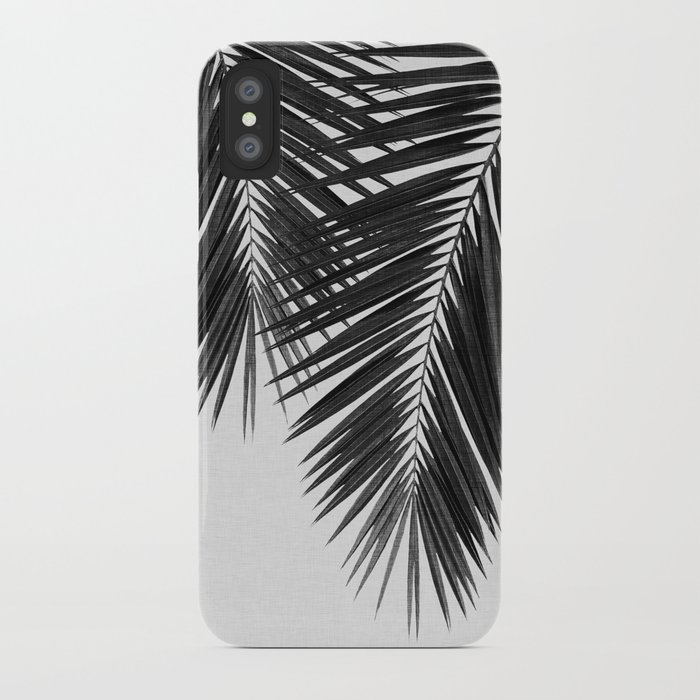 palm leaf black & white ii iphone case