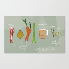 White Bean Bacon Stew Canvas Print