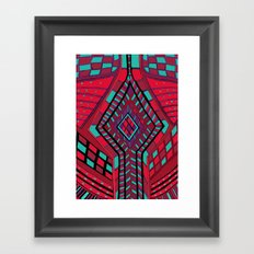 Knitting Red Knitwear Framed Art Print