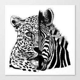 jaguar zebra monster Canvas Print