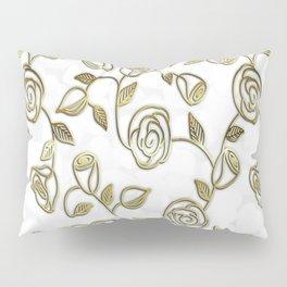 Golden Roses Pillow Sham