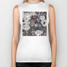 Periwinkles and Barnacles on a rock Biker Tank