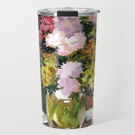 Asters. Bouquet. Flowers. Still-Life. Travel Mug