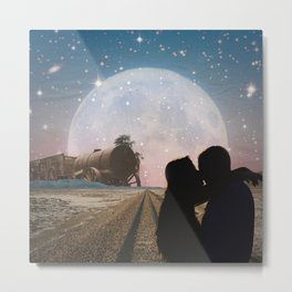 Traveler's kiss Metal Print