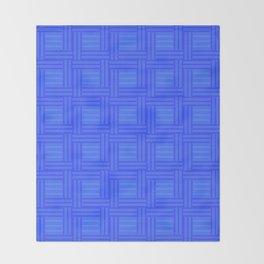 Elour Blue Tile Throw Blanket