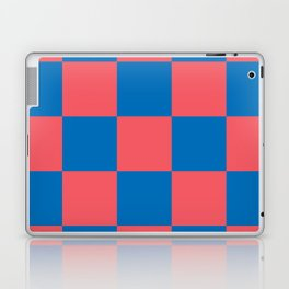retro classic blue-and-red plaid Liderc Laptop & iPad Skin