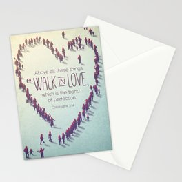 Walk in Love Stationery Cards