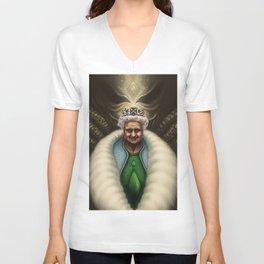 Queen Liz Unisex V-Neck