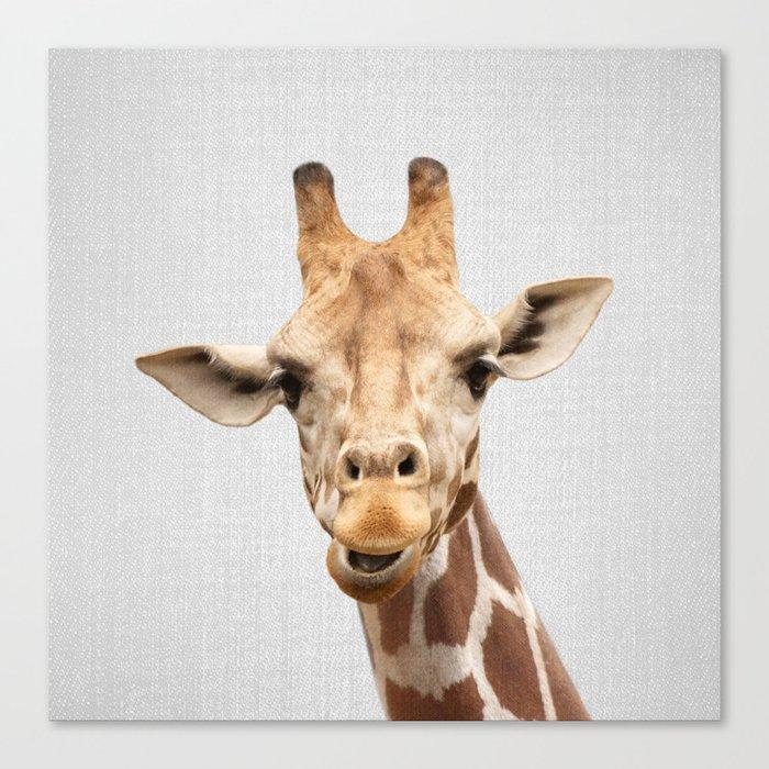 Giraffe 2 - Colorful Canvas Print