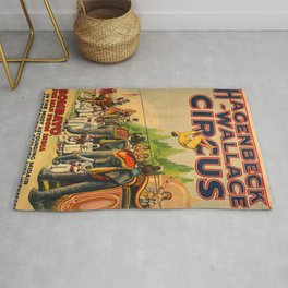 Illustrated Circus Poster Rug