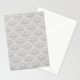 Bohemian Scallops - Obsidian Stationery Cards