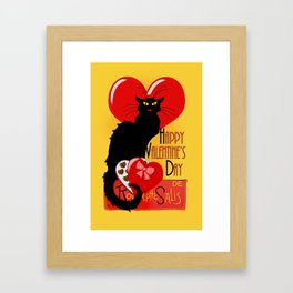 Le Chat Noir Valentine Framed Art Print