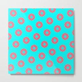 The Donut Pattern Metal Print