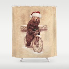 A Barnabus Christmas Shower Curtain